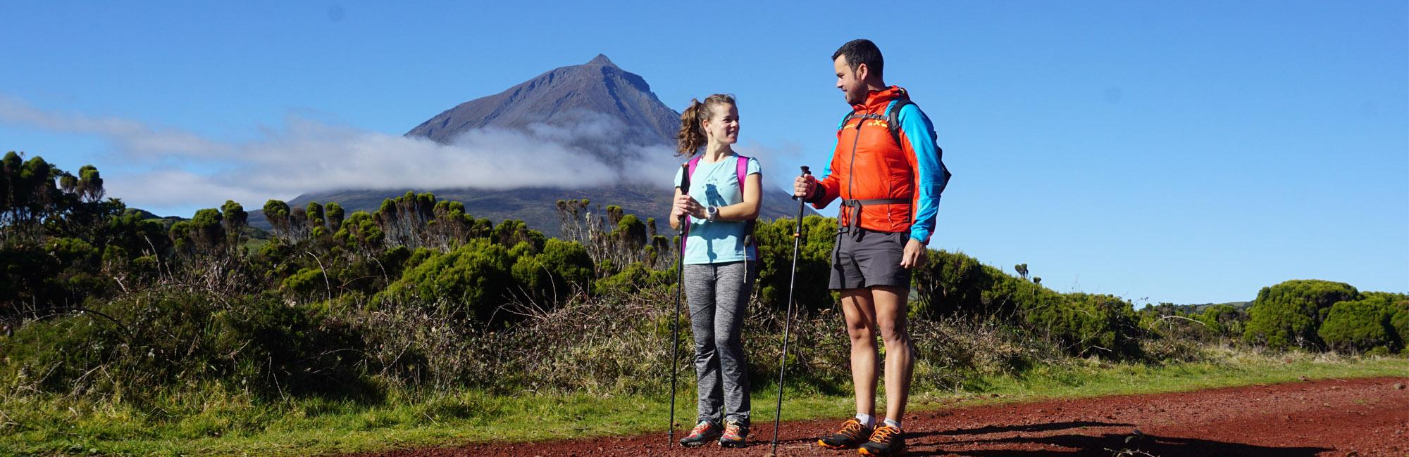 hikers on Pico Island