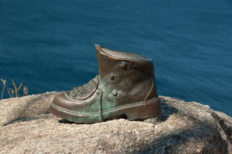 Boot sculpture Finisterre
