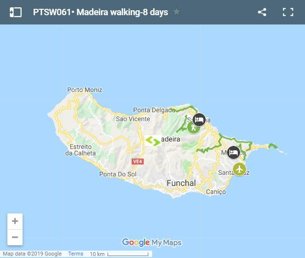 Map Madeira walking routes