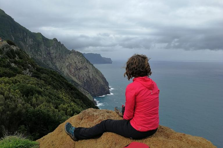 Walking route from Machico to Porto da Cruz