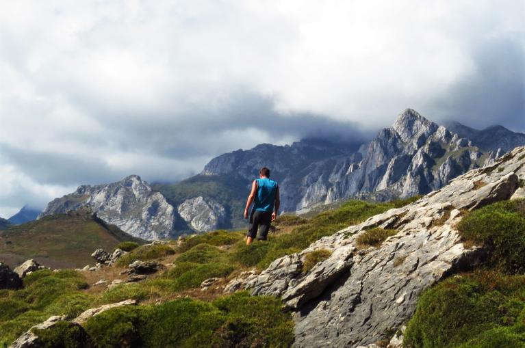 Hiker in Liébana