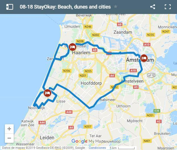 Map cycling routes with kids in Holland