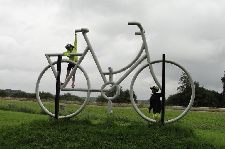 Bike's sculpture