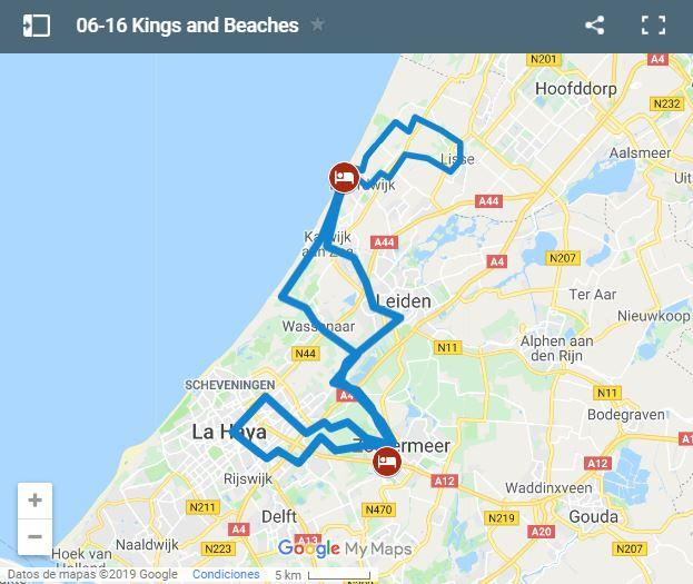 Map cycling routes for kids in Holland
