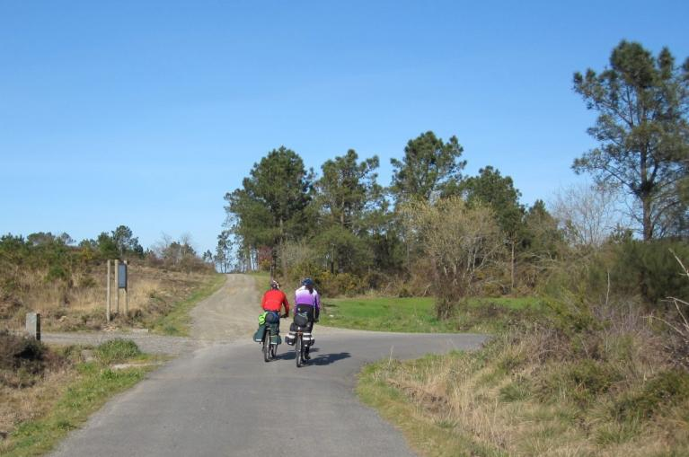 Cyclist in the Camino de Santiago