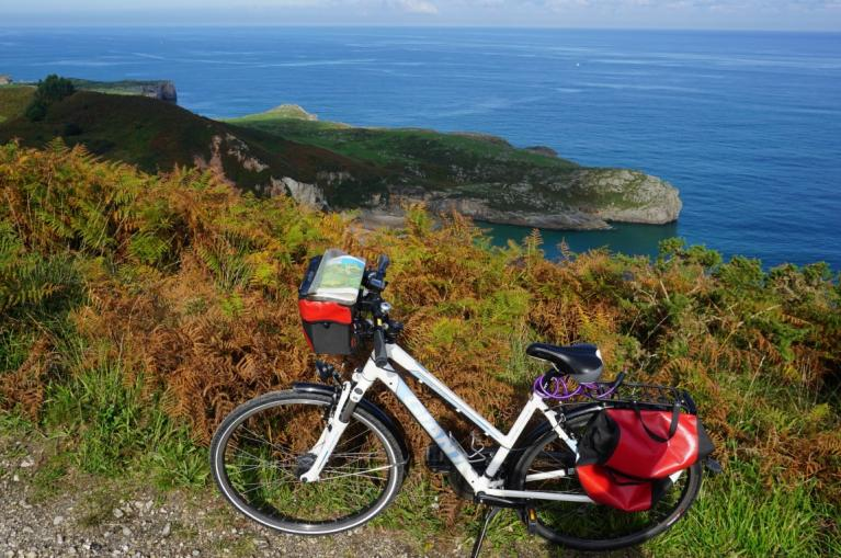 Bike at the Asturian coast