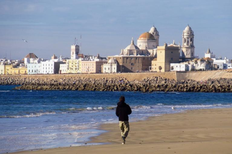 La Caleta beach in Cadiz