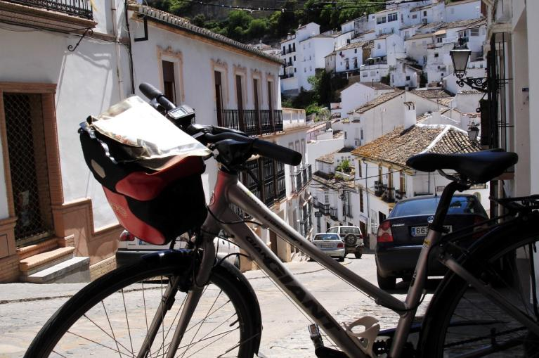 Bike in Andalusian white villages