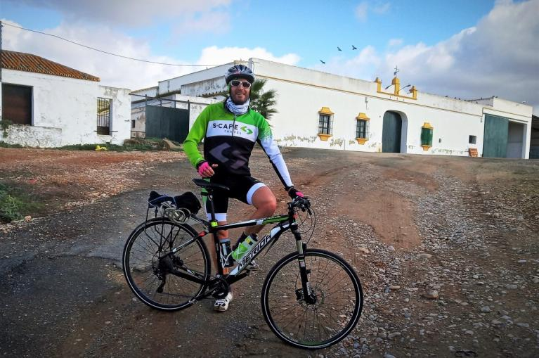Cyclist in Andalucia with S-cape Travel outfit