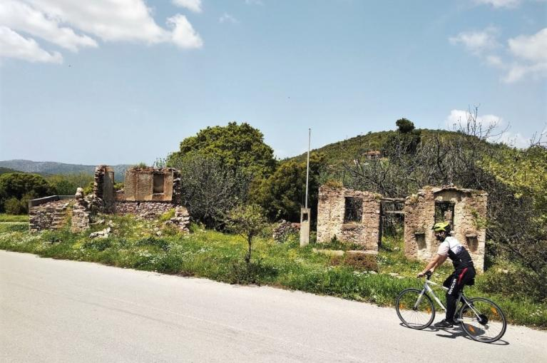 Cyclist in Evia