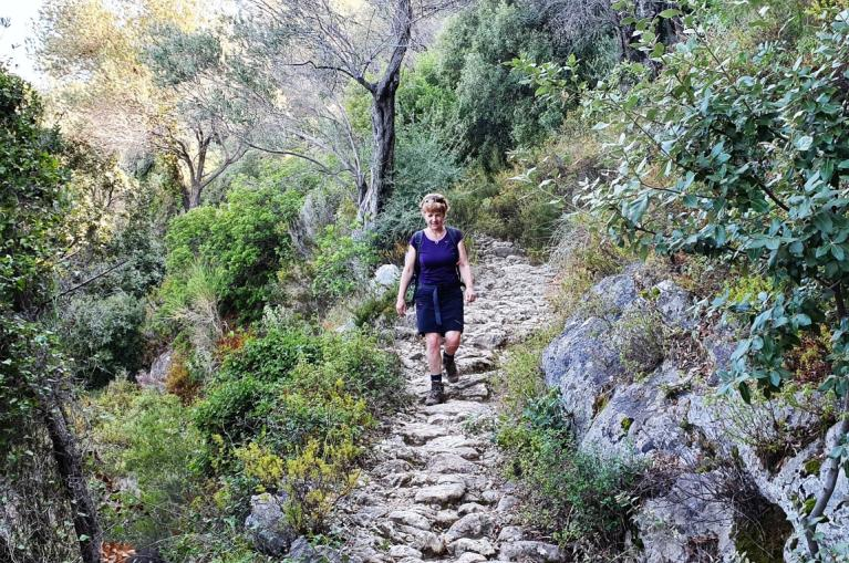 Walking route in Samos island
