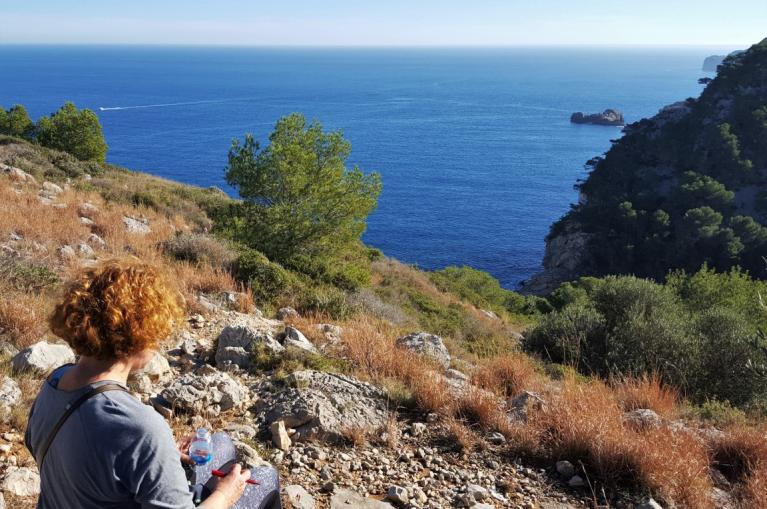 Hiker in Costa Brava