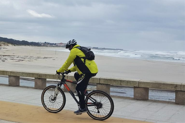 Cyclist in Portugal