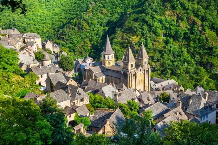 View of medieval Conques