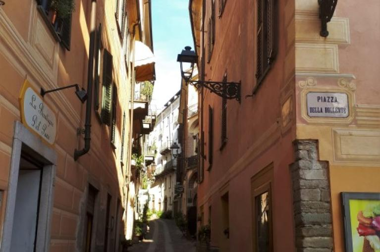 Streets town in Piedmont