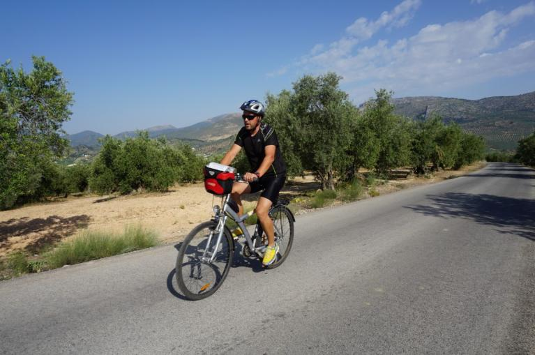 Cyclist in Andalucia
