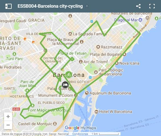 ESSB004-Barcelona city-cycling map