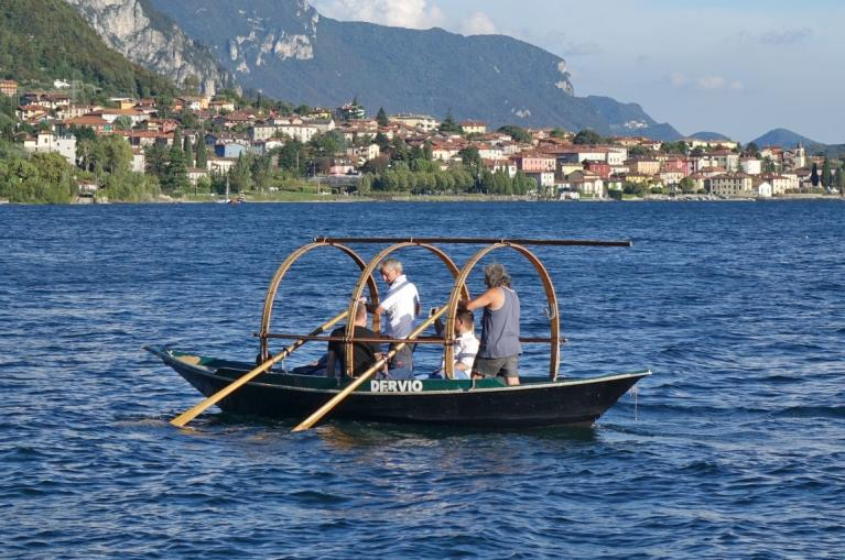 Boat in Lake Como Italy