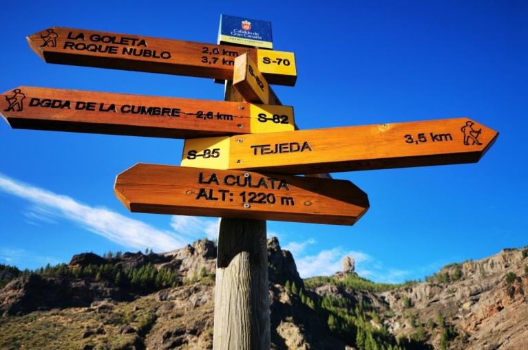 Gran Canaria routes signs