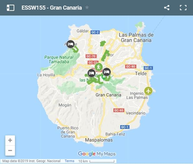 Map walking routes Gran Canaria