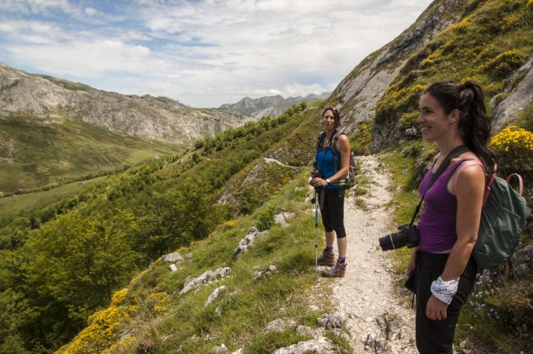 Two women hiking in Picos de Europa