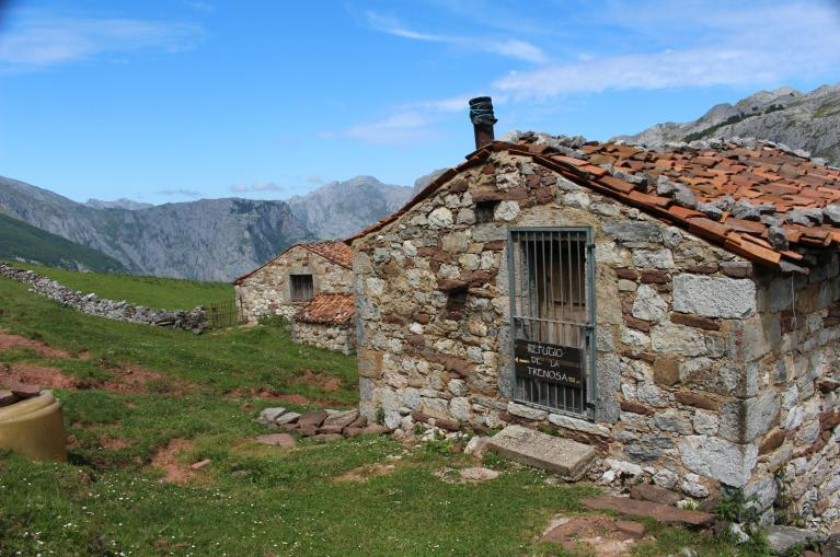 Traditional shepherds hut of Picos de Europa