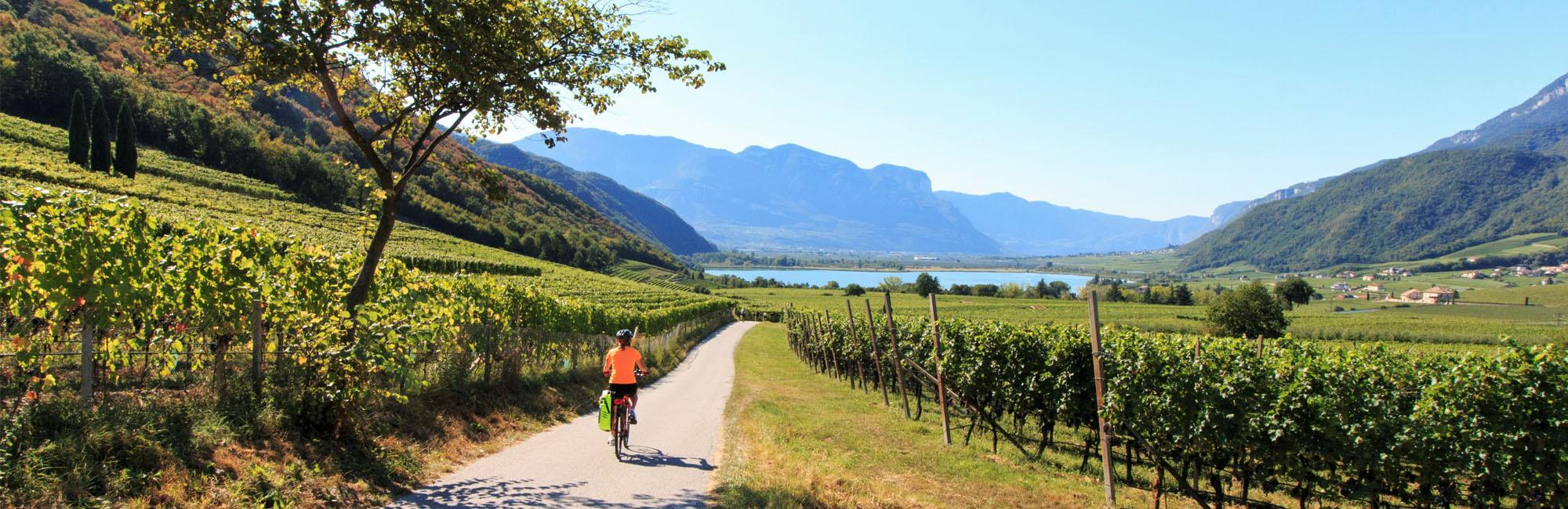 Cyclist in Lake Garda
