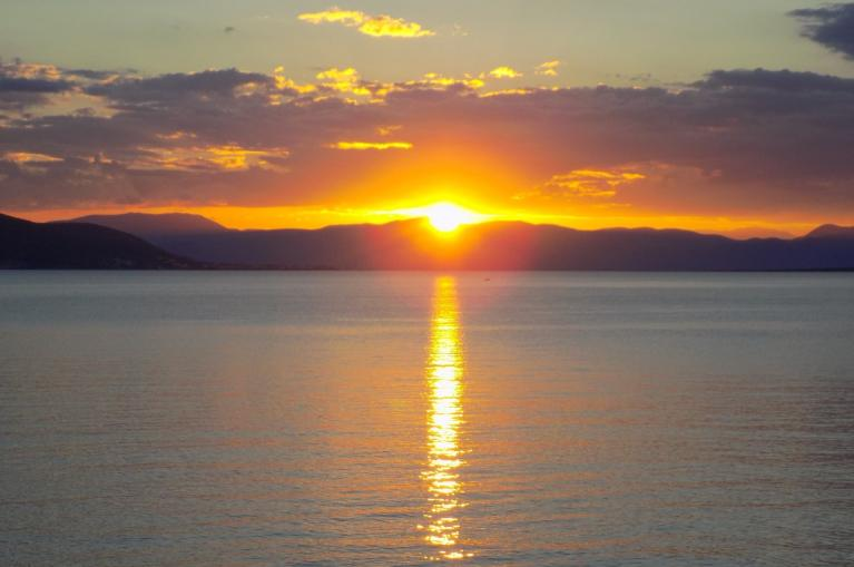 Sunset Aegina Island