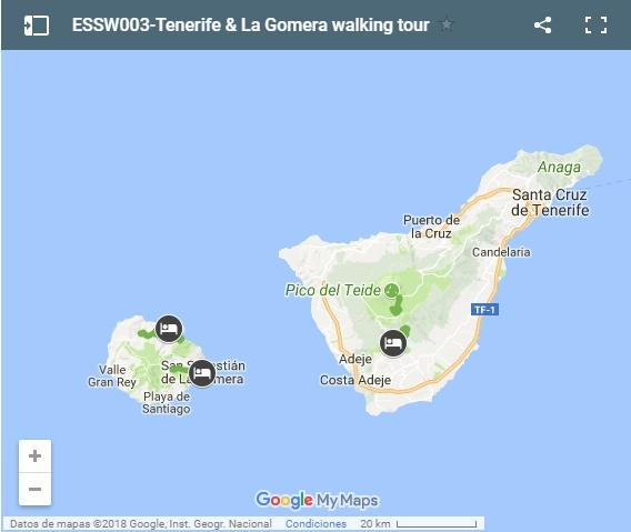 ESSW003-Tenerife & La Gomera walking tour-map