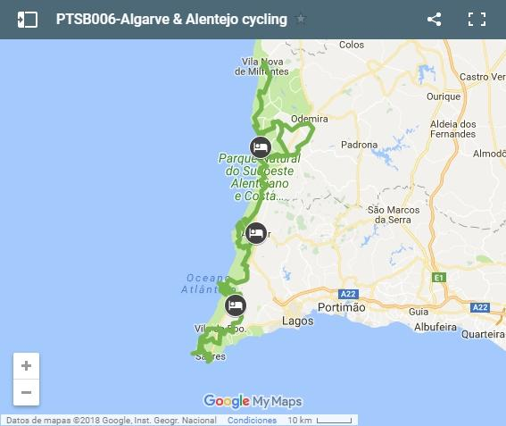 PTSB006-Algarve & Alentejo cycling-map