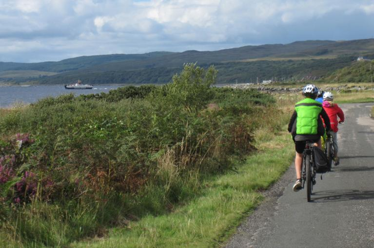 Cyclists in Scotland