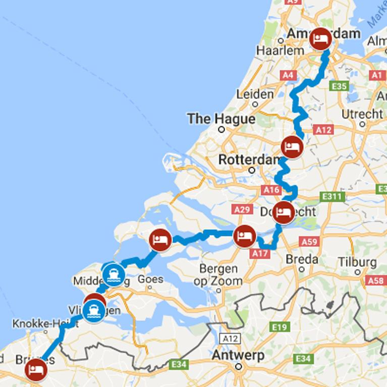 Cycling Amsterdam to Bruges