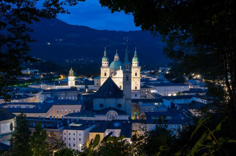 Salzburg night photo