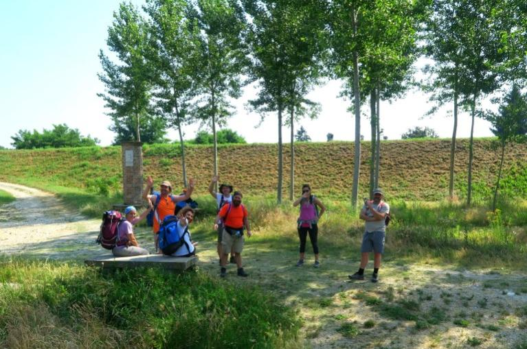 Via Francigena-from Pavia to Fidenza