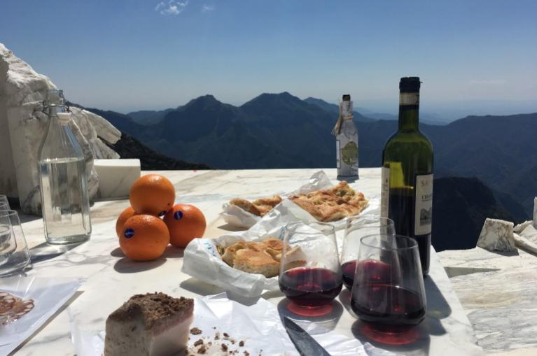 snack on the Via Francigena